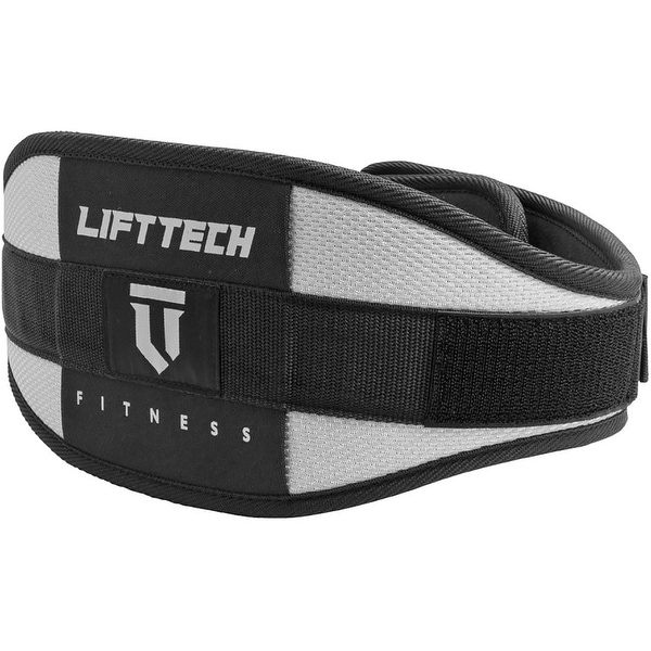"Lift Tech Fitness 6"" Comp Foam Weight Lifting Belt - Silver/Black. Opens flyout."