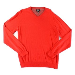NORDSTROM RACK NEW Red Mens Size XL Pullover Knit V-Neck Sweater