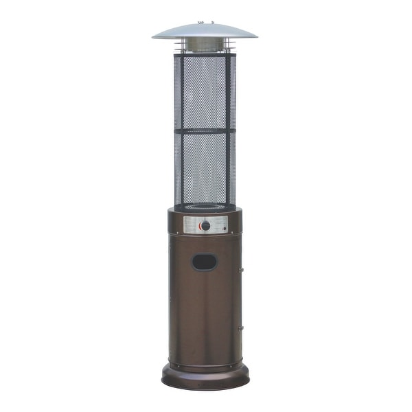 Bon Belleze Circle Round Pyramid Outdoor Home Commercial Glass Tube With Flames  Heater Patio Heater, Hammered