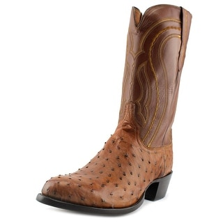 Lucchese Burn F.Q. Ost/Ch Ranch Men 2E Square Toe Leather Brown Western Boot