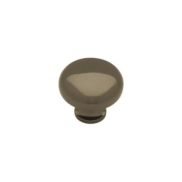 Logan 1 1/4 Inch Diameter Mushroom Cabinet Knob   Black Chrome