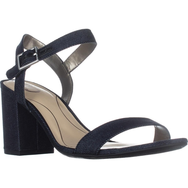 Circus by Sam Edelman Ashton Ankle Strap Sandals, Dark Navy