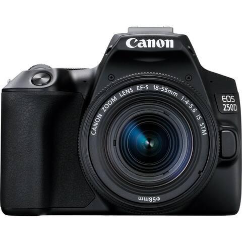 Canon EOS 250D (Rebel SL3) DSLR Camera w/ 18-55mm IS STM Len