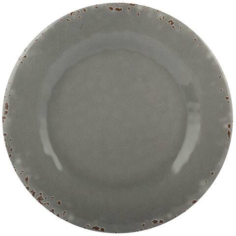 Melange 36-Piece Melamine Dinner Plate Set (Rustic Collection )
