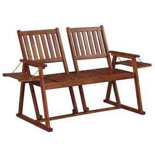 "vidaXL Solid Wood Garden Bench Double View 2 Seater 65"" Patio Outdoor Chair - 65"" x 29.5"" x 37.4"""