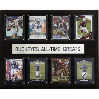 C I Collectables 1215ATGBUCK NCAA Football Ohio State Buckeyes All Time Greats Plaque