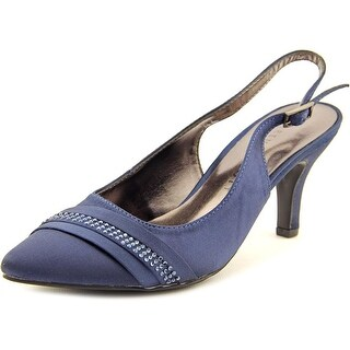 Karen Scott Ginaa Pointed Toe Canvas Slingback Heel