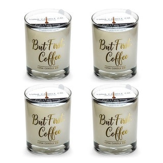 Fragrant Caramel Coffee Scented Candle, Natural Soy Wax, USA (4 Pack)