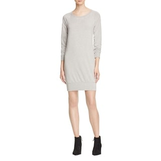 Splendid Womens Sweatshirt Dress Knit Ribbed Trim