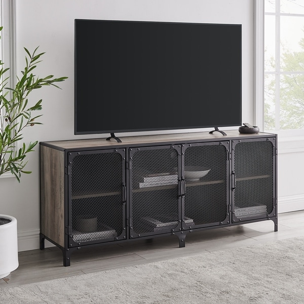 Carbon Loft Pierpont 60-inch Industrial TV Stand Console. Opens flyout.