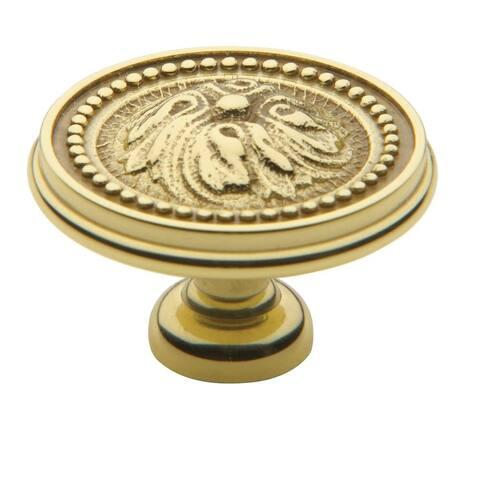 "Baldwin 4931 Ornamental 1-1/2"" Mushroom Cabinet Knob"
