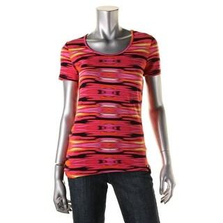 Lauren Ralph Lauren Womens Printed Active T-Shirt - XS