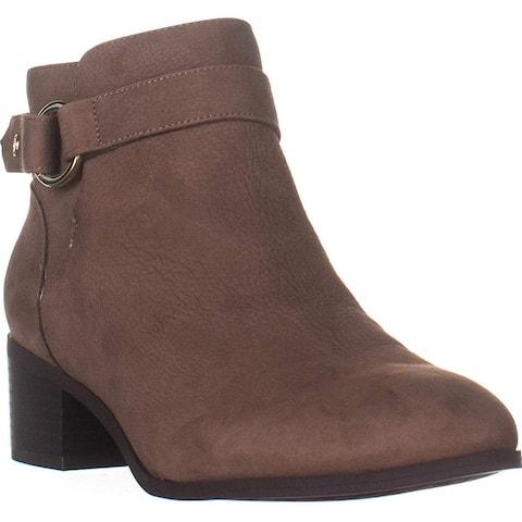 Giani Bernini Womens Putneyy Leather Heeled Ankle Boots
