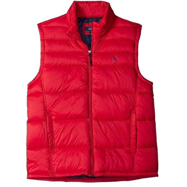IZOD Red Men's Size Large L Apex Quilted Full Zip Vest Jacket