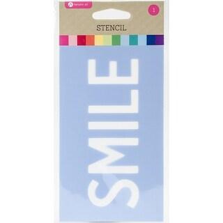 """Stencil 3.5""""X6""""-Smile - smile"""