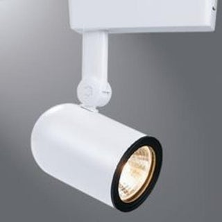 Halo LZR000405P Roundback Cylinder Track Light, 12 V, White