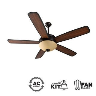 "Craftmade LY52 Layton 52"" 5 Blade Indoor Ceiling Fan - Blades and Light Kit Included"