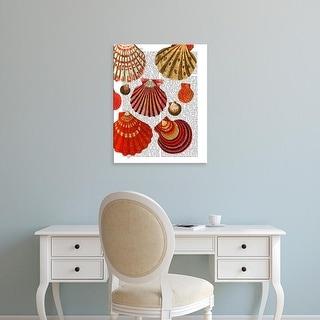 Easy Art Prints Fab Funky's 'Red Clam Shells' Premium Canvas Art
