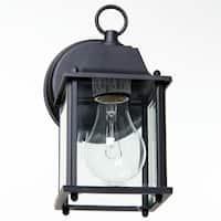 Boston Harbor AL1037-53L Single Light Small Porch Wall Lantern, Black