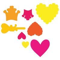 Princess - Sizzix Framelits Dies 8/Pkg W/Clear Stamps