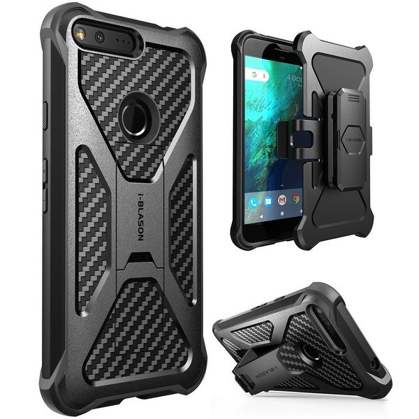 Google Pixel XL-i-Blason, Transformer, Case with Holster and Kickstand-Black