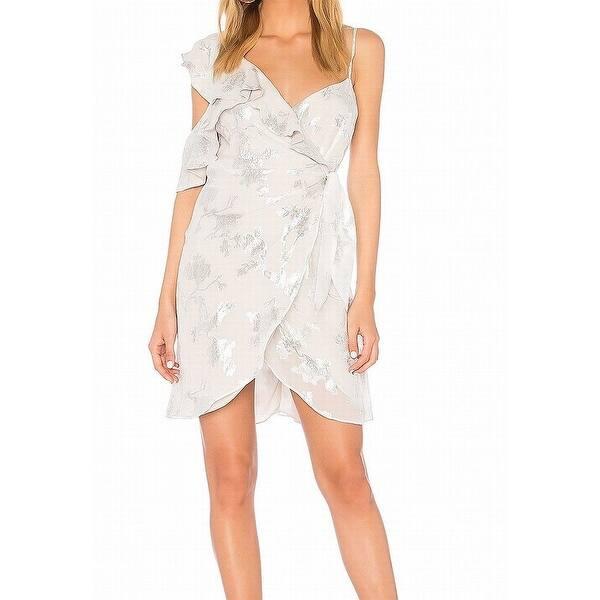 3d8e6f8dc83f0 Shop Bardot Women's Large Ruffle Floral Wrap Dress Silk - Free ...