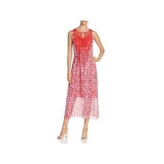 T Tahari Womens Marcia Cocktail Dress Floral Print Sleeveless