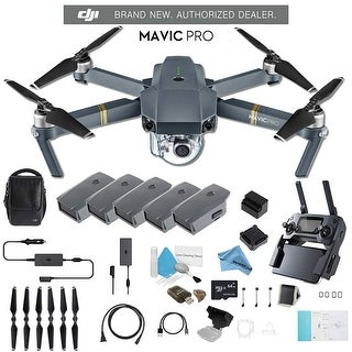 DJI Mavic Pro Fly More Combo CP.PT.000642 + 2 DJI Intelligent Flight Battery for Mavic Pro (5 Total) and Much More.
