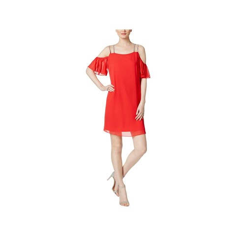 MSK Womens Clubwear Dress Cold Shoulder Shift