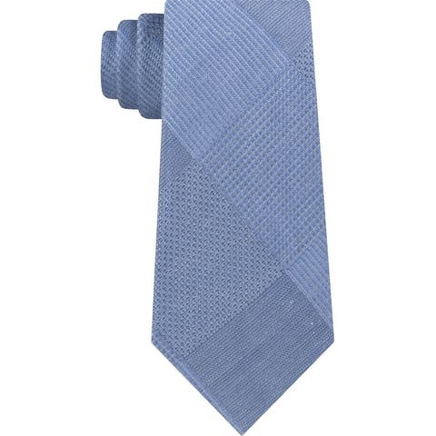 Kenneth Cole Mens Updated Glen Self-Tied Necktie - One Size