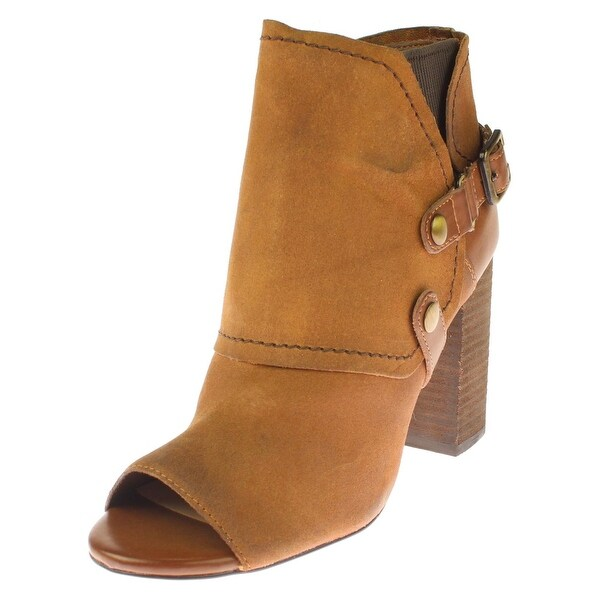 Fergie Womens Roland Ankle Boots Leather Buckle