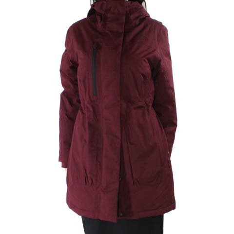 The North Face Women's Coat Burgundy Red Size Small S Parka Hooded