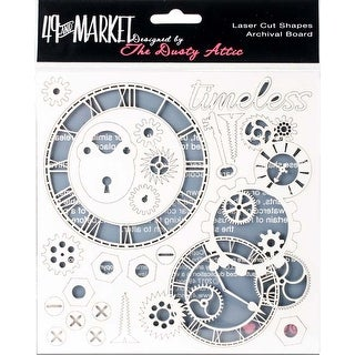 "Timeless White - 49 & Market Archival Chipboard 6""X6"""