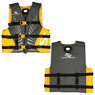 Stearns youth antimicrobial life jacket gold 50-90 lbs