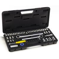 Tool House 52 Piece SAE/Metric Socket Set, Mechanics Tool Kit