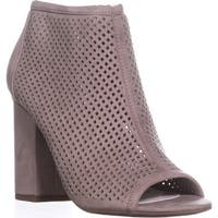 B35 Megan Peep To Booties, Taupe - 8 us
