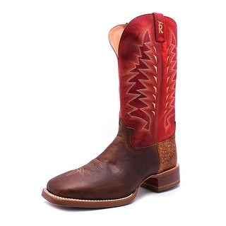 Tony Lama 3R4026 Men Square Toe Leather Red Western Boot