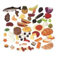 Childcraft Multi-Ethnic Play Food Set, 63 Pieces