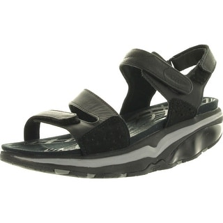 Mbt Womens Hanuni Slingback Sandals - black/silver/neo red