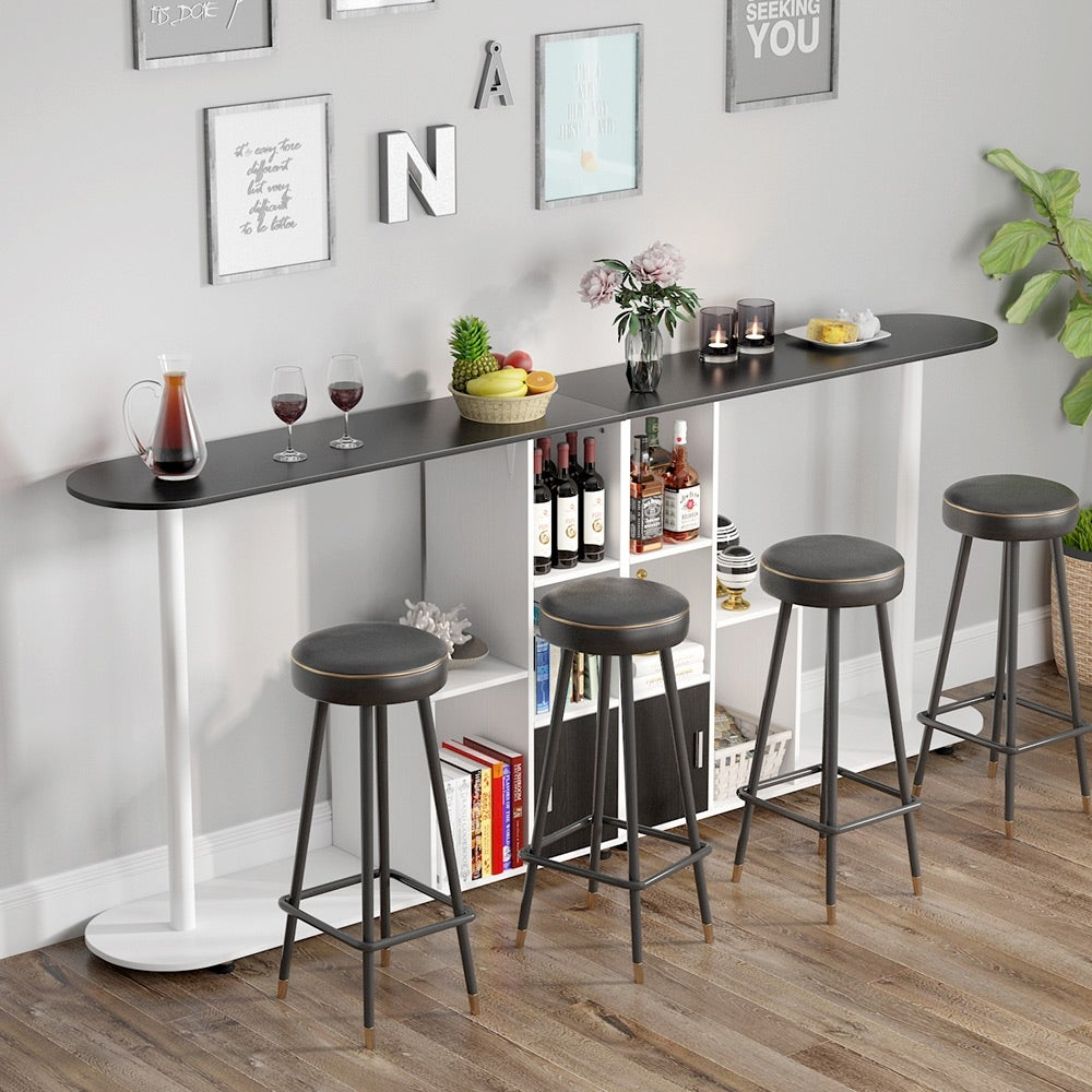 Pub Table With Storage Modern Bar Bistro Table With Kitchen Door Kitchen Table In Dining Area Overstock 30126080