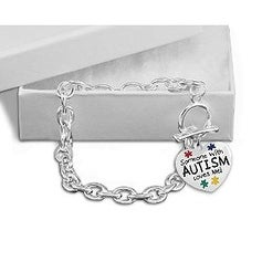 Someone with Autism Loves Me Chunky Charm Bracelet