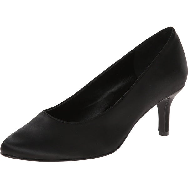 RSVP NEW Black Satin Lacina Shoes Size 10N Wrapped Pumps Heels