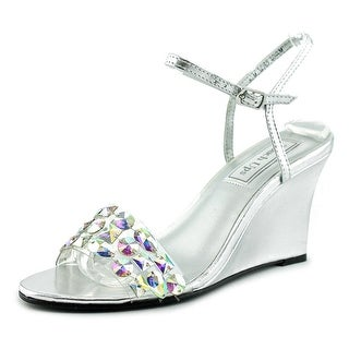 Touch Ups Norma Open Toe Synthetic Wedge Sandal