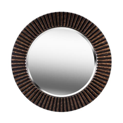 "Carson Carrington Arslev Bronze Wall Mirror - 34"" Dia."