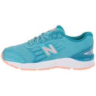 Kids New Balance Girls 680V5 Low Top Lace Up Running Sneaker