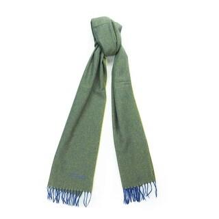 St. Dupont Paris 100WS VV Green/Purple 100% Cashmere Classic Mens' Scarf