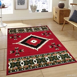 "Allstar Red Woven High Quality Rug. Traditional. Persian. Flower. Western. Design Area Rug (3' 9"" x 5' 1"")"