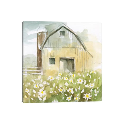 "iCanvas ""Daisy Barn"" by Nan Canvas Print"