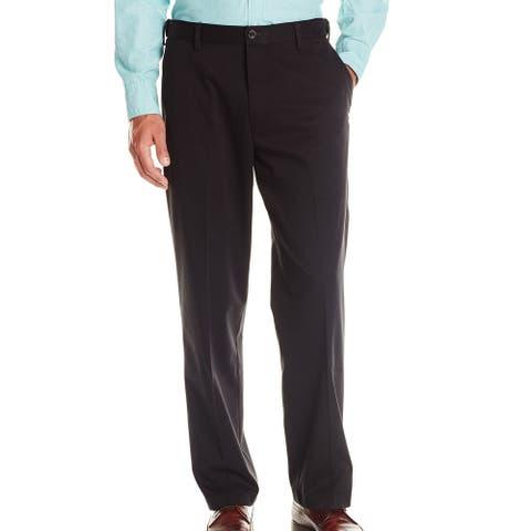 Dockers Mens Dress Pants Black Size 38x34 Classic Fit Khakis Stretch
