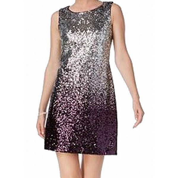 Shop Vince Camuto Silver Women s 14 Sequin Embellished Sheath Dress - Free  Shipping Today - Overstock.com - 27142464 45c1e92f5ebe